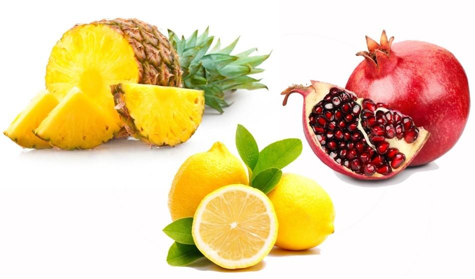 ананас гранат лимон лучшие фрукты для выхода из голодания